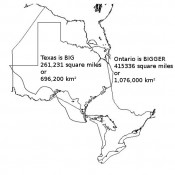 Ontario is bigger than Texas